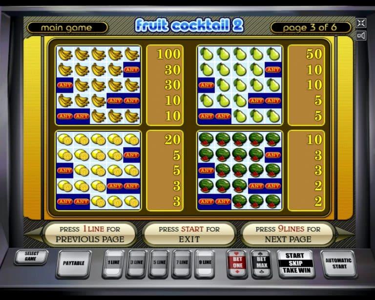 Онлайн Cocktail Автоматы Игровые Fruit рисовал