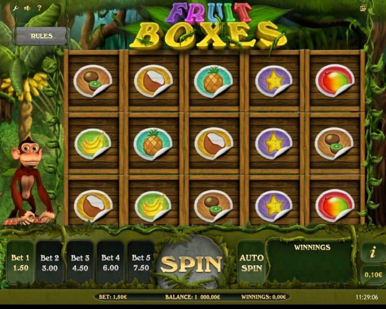 Игровой автомат Fruit Boxes
