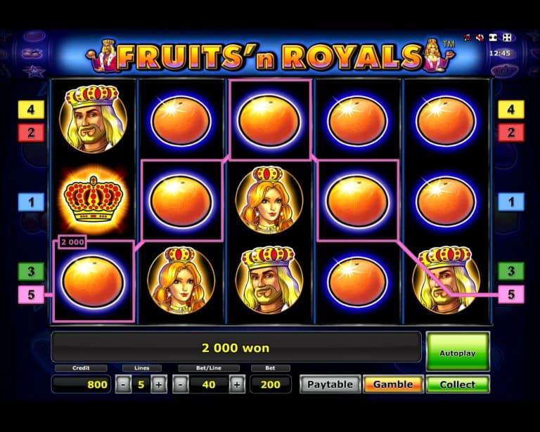 Игровой автомат Fruit and Royals