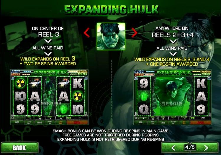 Игровой автомат The Incredible Hulk