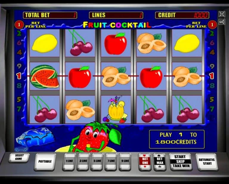 Игровой автомат Fruit Cocktail «Клубничка»