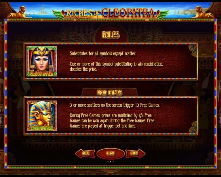 Игровой автомат Riches of Cleopatra