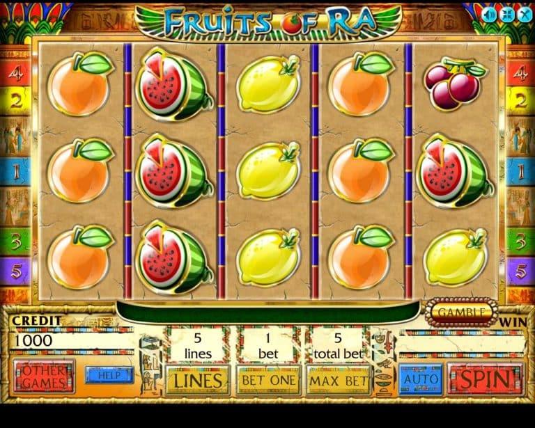 Игровой автомат Fruits of Ra