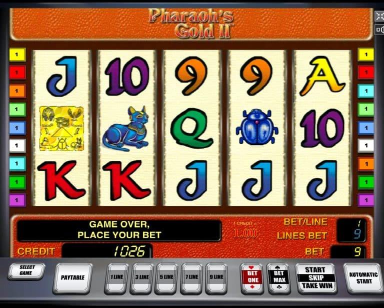 Игровой автомат Pharaohs Gold II