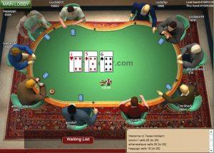 за столом в покер