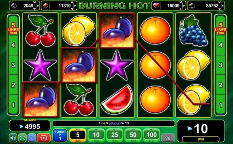 Игровой автомат Burning Hot