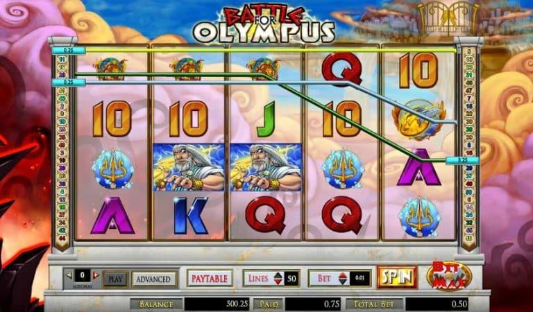 Игровой автомат Battle for Olympus