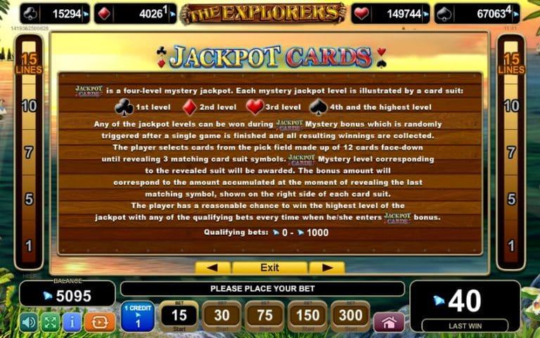 Игровой автомат The Explorers
